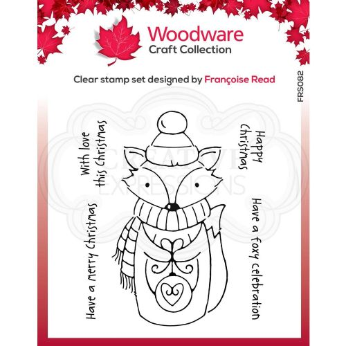Foxy Christmas Woodware Clear Stamp (FRS082)